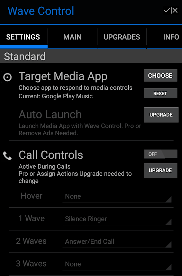 Wave Control Android app