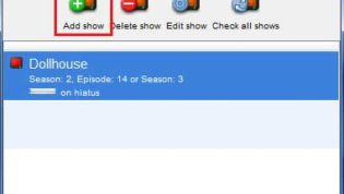 Click on Add Show in TED