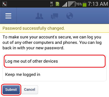 Finally FB Password Changed