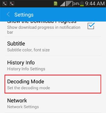 Open Decoding Mode