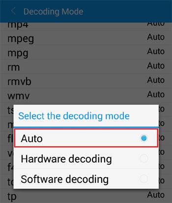 Set Decode Mode to Auto