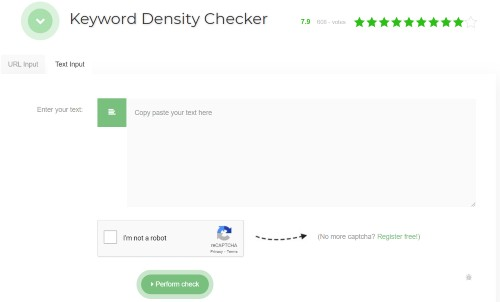 SEO Review Tools - Keyword Density Checker