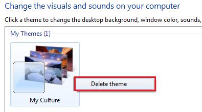 Delete Windows Theme