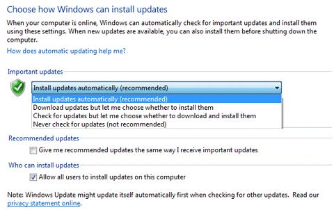 Select Windows Update Settings
