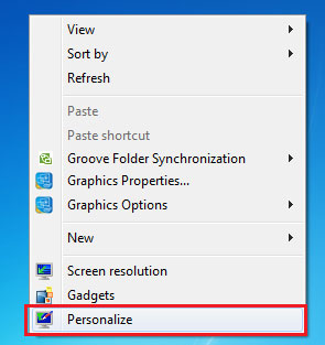 Windows 7 Personalize