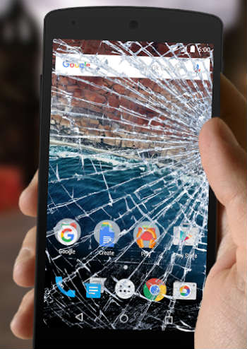 Broken Screen Prank app for Android
