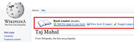 Collect articles for your Wikipedia ebook