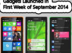 Gadgets launched in 1st week of September 2014