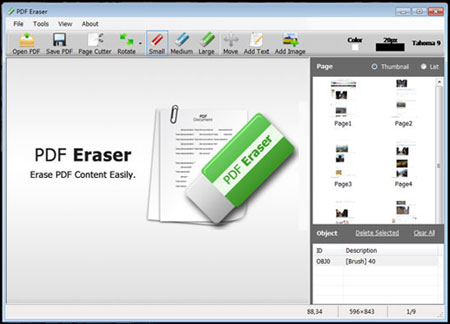 PDF Eraser Tool