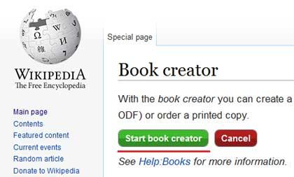 Start book creator