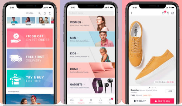 Myntra iPhone app