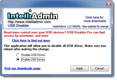 Free USB disabler