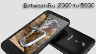 Cheapest smartphones between 2000 to 5000