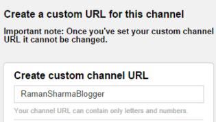 Create YouTube Custom URL