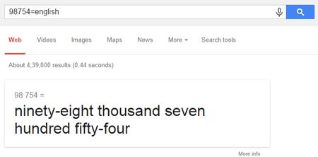 Google spell numbers