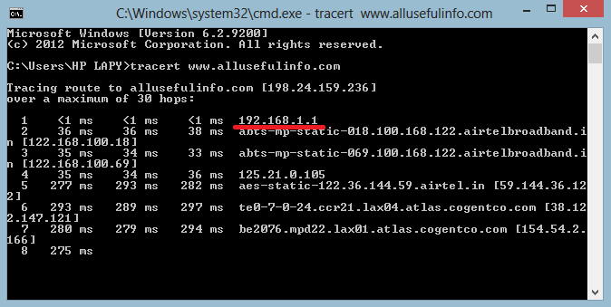 Router's IP Address