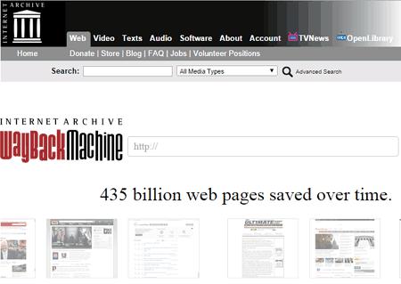 Wayback Machine enter URL