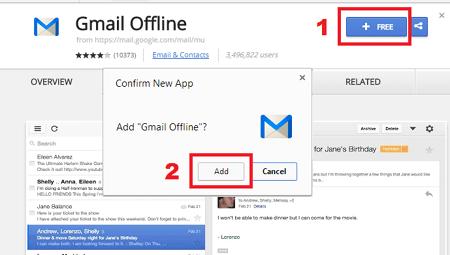 Add Gmail Offline in Browser