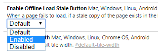 Enable Load Stale Button