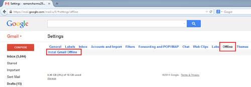 Install Gmail Offline
