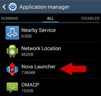 All Apps > Select Launcher