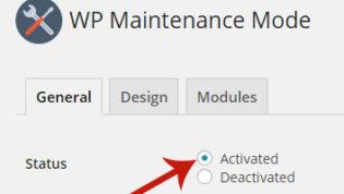 Activate Maintenance Mode