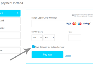 Card information saved in Paytm