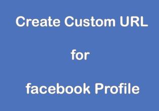 Create Custom URL for Facebook Profile