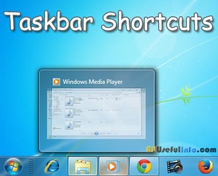 Taskbar Shortcuts