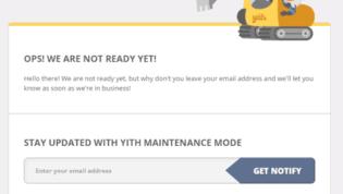 YITH Maintenance Mode