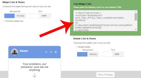 Chat Widget Code