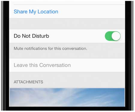 Mute notifications in iOS 8