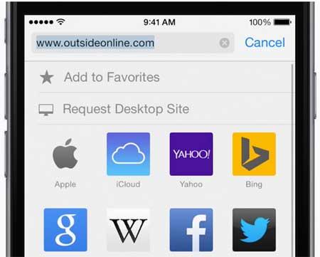 Resquest desktop site in iPhone