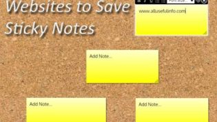 Websites for sticky notes