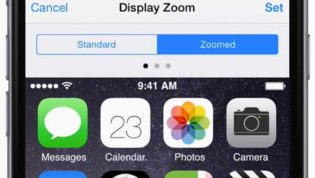 Zoom in iPhone