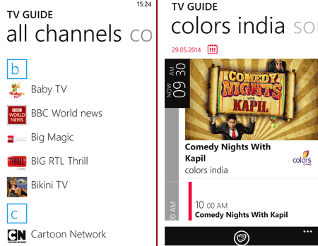 DittoTV for Windows Phone
