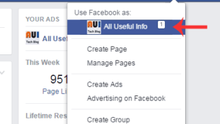 Open Your Facebook Page