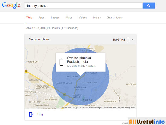 Find Phone on Google
