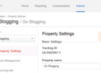 Delete Web Property from Google Analytics