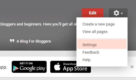 Open Google Plus Page Settings