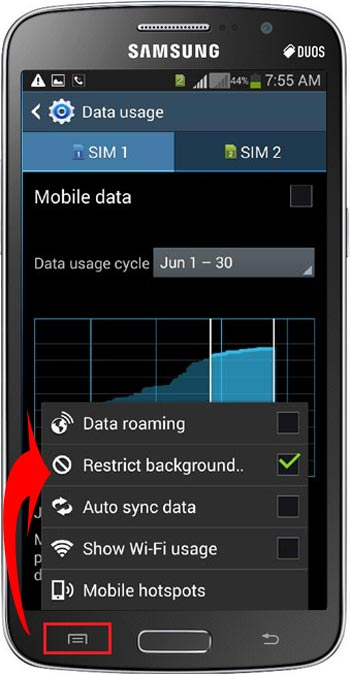 Restrict Background Data in Android