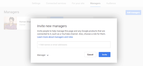 Invite Manager for Google Plus Page