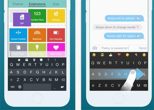 Fleksy Keyboard App for iPhone