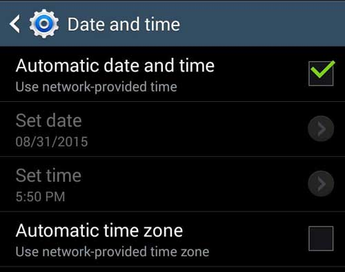 Automatic Date Time Setting