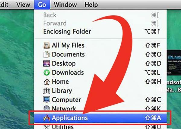 Go to Applications on Mac