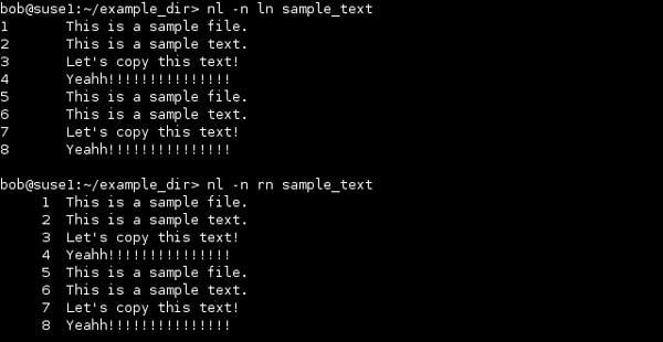 NL Linux Command