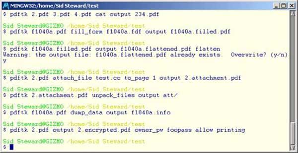 Pdftk Linux Command