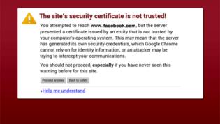 Untrusted Certificate Error
