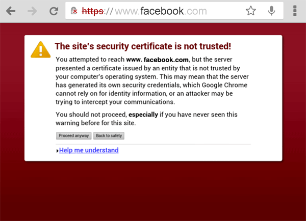 Untrusted Certificate Error