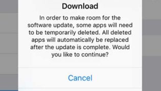 Not enough space for download iOS 9